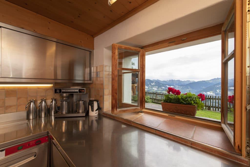Golmerhaus Küche Aussicht